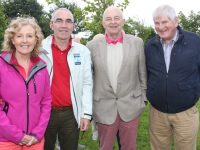 Monica and John Naughton, John O'Sullivan and Donie Cantillon at the celebration in Christ The King Park, Ballymullen on Friday evening. Photo by Dermot Crean