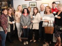 A group from Siamsa Tire at the fundraising coffee morning in An Teach Beag on Thursday. From left; Joanne Griffin, Balar Bernal, Anne O'Donnell, Catriona McCarthy, Gina Sugrue, Michelle Murphy, Tom Hannafin, Geraldine Hurley, Jonathan Kelliher and Majella Stack. Photo by Dermot Crean