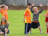 Youngsters having fun at Kerins O'Rahillys GAA Cúl Camp on Friday. Photo by Dermot Crean