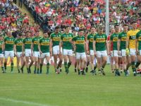 Kerry team in the parade before the game. Photo by Dermot Crean
