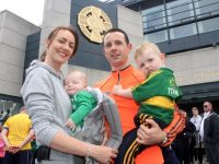 Michelle, Fiachna, Mikey and Muiris Collins outside Croke Park on Sunday. Photo by Dermot Crean