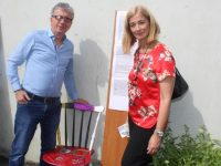 Billy Keane and Deirdre Walsh at the opening of 'Through the Chair' at Kerry Rape and Sexual Abuse Centre on Wednesday. Photo by Dermot Crean