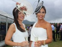 Deirdre Hennebery and Moira Greer at Dawn Milk Ladies Day at Killarney Races on Thursday. Photo by Dermot Crean