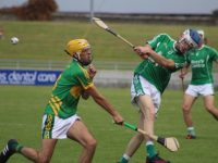John Hussey gets his shot away. Photo by Dermot Crean