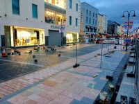 The Mall pictured on Saturday night last, with a section on the main carriageway completed up past Penney's.