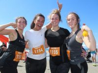 Ellen Reidy, Lucy Baker, Anthea Reidy and Jennifer O'Connor at the Spin Southwest Sandstorm on Ballyheigue Beach on Saturday. Photo by Dermot Crean