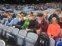 Some U16 St Pats players in Croke Park for Kerry v Galway match.