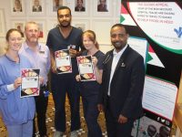 Launching the 'Blast From The Past' night in aid of the Bon Secours Sudan Appeal were, from left; Amanda Hogan, Chris Brennan, Dr Ahmed Mohamed, Margaret Cotter and Dr Kamal Abdalla. Photo by Dermot Crean