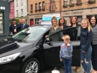 Veronica Costello, daughters  Sharon, Jane, Sarah and grandson Shane. Stephen Benner Kerry Motor Works, Katrina Rice and Suzanne Ennis Tralee Credit Union.