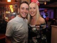 Andrew Morrissey and girlfriend Una Kerins at his 30th birthday party in The Ashe Hotel on Friday night. Photo by Dermot Crean
