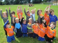 Young players at the Ballymacelligott GAA Cúl Camp on Friday. Photo by Dermot Crean