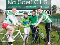 Denis Sugrue, Agnes Sheehy,Ryan O'Neill & Barry Sugrue promoting the upcoming annual Na Gaeil GAA Cycle. Photo by Joe Hanley