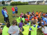 Barry John Keane talks to kids at Kerins O'Rahillys GAA Club summer camp. Photo by Dermot Crean