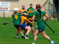 Action from the Kerry v Clare camogie match on Saturday. Photo by Mike O'Halloran