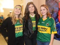 Sinead O'Connor, Tralee, Katie O'Connor, Currans and Aileen O'Hanrahan, Castleisland, in The Gresham Hotel before the match on Sunday. Photo by Dermot Crean
