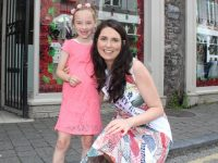 Kayla Pigott with Kerry Rose Breda O'Mahony at Carriage Donn on Saturday afternoon. Photo by Dermot Crean