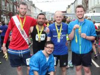 Jason Kelly, Sohaib Syed, Darren Truslove, Fergus Dennehy and Ethan Cronin, at the Rose 10k on Sunday Morning. Photo by Lisa O'Mahony.