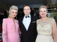 Margaret Hynes Cahill, Jonathan Cahill and Diane Jeffers at the Rose Ball on Friday night. Photo by Dermot Crean