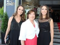 Grace, Sheila and Ciara Looney at the Rose Ball on Friday night. Photo by Dermot Crean