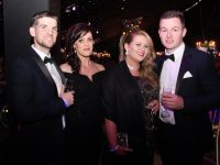 Sean O'Shea, Lyndsey O'Shea, Micheál Brosnan and Tracy Lowe at the Rose Ball on Friday night. Photo by Dermot Crean