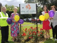 Launching the Balloon Fundraiser in aid of the Palliative Care Centre were Ted Moynihan and Mairead Fernane of Kerry Hospice, Kerry Rose Breda O'Mahony and Mary Shanahan of Kerry Hospice. Photo by Dermot Crean