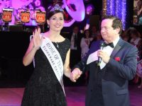 Rose of Tralee Maggie McEldowney with host Marty Morrissey at the Celebration Of Roses event in the Dome on Thursday night. Photo by Dermot Crean