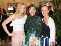 Denise Kerins, Sinead Joy, and Michelle Lyne at the Rose of Tralee Fashion Show in the Dome on Sunday. Photo by Lisa O'Mahony.