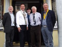 President Tralee Chamber Alliance  and Rotarian, Garth Arnold District Governor Rotary Ireland , David Slattery Rotarian, Graham Borley President Tralee Rotary Club and Pierce Wall President Elect Tralee Rotary Club on Tuesday at the Imperial Hotel.
