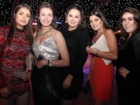 Kelly Donovan, Grace Stack, Louise Crowley, Hayley Donovan and Maggie Walsh at the Austin Stacks Strictly Come Dancing on Saturday night. Photo by Dermot Crean