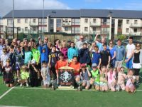 A group of Tralee Tennis Club members at the Hillbillys Cup family day at the club on Saturday. Photo by Dermot Crean