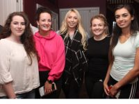 Ayesha Quane, Phena Mulligan, Katie Lehane, Catherine O'Halloran, Yasmin Gardezi at the Woodies Fundraising Table Quiz in O'Donnell's Mounthawk on Wednesday night. Photo by Dermot Crean