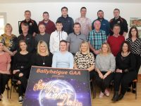 The contestants and organising committee at the launch of the Ballyheigue GAA 'Strictly Come Dancing' event at the clubhouse on Thursday. Photo by Dermot Crean