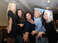 Lorraine Walsh, Karen Joy, Majella O'Sullivan, Lisa Priestly and Aisling O'Dwyer who took part in the Bon Secours Lip Sync For Sudan at the Brandon Hotel on Saturday night. Photo by Dermot Crean