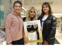 Michelle Daly and Sylvia Enright with MUA Jade Mullett at CH Chemists on Saturday afternoon. Photo by Dermot Crean