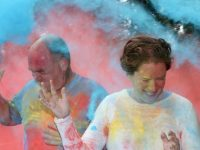 A sea of colour during the charity Colour Run on Sunday morning. Photo by Dermot Crean
