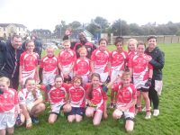 U12 girls (and mentors) that played Churchill in Div 2A of the Town League yesterday in Ballyrickard