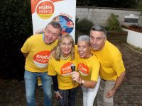 Contestants in the 'Lip Sing' Contest Jimmy Adams, Bridie Courtney, Amy Crean and Michael Hurley. Photo by Dermot Crean