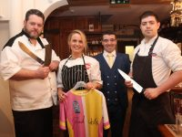 Elaine Kinsella of Radio Kerry was the Mystery Guest Chef at the fundraising evening in and of the Donal Walsh LiveLife Foundation at Croí Restaurant on Friday night She is pictured here with the restaurant owners Noel Keane, Kevin O'Connor and Paul Cotter. Photo by Dermot Crean