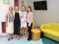 Inside 'Donal's Den', a special room in the new 15-bed specialist palliative in-patient unit at University Hospital Kerry, were Elma Walsh, Elysha Brennan, Kate Brennan and Valerie Kerins on Friday afternoon. Photo by Dermot Crean