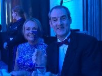 Ogie Sheehy and his wife Kathleen at the awards ceremony.