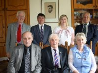 Members of Coiste Thionól Mhic Easmainn who are organising this year's Casement Gathering in Tralee on Friday 15th September in The Meadowlands Hotel: tosach (ó chlé) – Pádraig Mac Fhearghusa, Seán Seosamh Ó Conchubhair (Cathaoirleach), Dawn Uí Chonchubhair. Líne 2 (ó chlé) – Brian Caball, Dr Tadhg Ó hArragáin, who will officially open The Gathering and speak ón Tomás Ághas/Thomas Ashe, Aoife Ní Chonchubhair, Brian O'Daly.