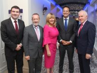 Minister Brendan Griffin, Sean Kelly MEP, Mary Deenihan, An Taoiseach Leo Varadkar and Jimmy Deenihan at the Fine Gael celebration in honour of Jimmy Deenihan in The Rose Hotel. Photo by Dermot Crean