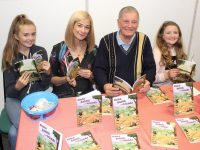 At the launch of Joe Enright's 'Alana Rabbit and Friends' at Tralee Library on Saturday afternoon were his granddaughter Katie Enright, Deirdre Walsh of Radio Kerry who launched the book, Joe himself and granddaughter Niamh Enright. Photo by Dermot Crean