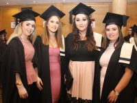 Norette Prendergast, Shannon McCarthy, Jade Crean and Lauren Hurley (Nursing Studies) at the Kerry College of Further Education Graduation Ceremony on Thursday evening. Photo by Dermot Crean