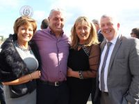 Liz and Gene O'Sullivan, Helen and Jim O'Connor, Tralee, at the McElligotts Honda Ladies Day at Listowel Races on Friday. Photo by Dermot Crean