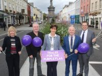 Welcoming the awarding of the Purple Flag to Tralee a few weeks ago were Jean Foley and Frank Hartnett of Kerry County Council, Mayor of Tralee Norma Foley, President of Tralee Chamber Alliance Aidan Kelly and David Scott of Tralee Chamber Alliance. Photo by Dermot Crean