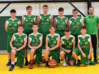 St. Brendan's U16s with coach Fergal O'Sullivan runnners up in the inaugural  Éamonn McCarthy Memorial U16 Tournament hosted by St. Brendan's Basketball Club last weekend.