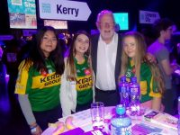 Lin Moriarty, Rebekah Crean and Leanne O'Grady representing KDYS  with Deputy Martin Ferris.