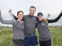Ciara Sheridan, Robert Powell and Abbie Sheridan at the Banna Beast Challenge on Saturday. Photo by Dermot Crean