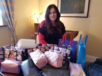 Caroline McCarthy among the pamper packs to be distributed to Recovery Haven and Kerry Cancer Support Group.